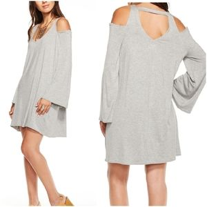 Chaser Black Cool jersey bell sleeve dress M